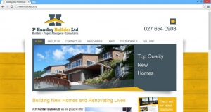 P Huntley Builder Website Launch